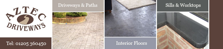 Aztec Driveways - Driveways, Paths, Patios, Interior Floors, Sills, Worktops, Block Paving, Tarmac, Concrete